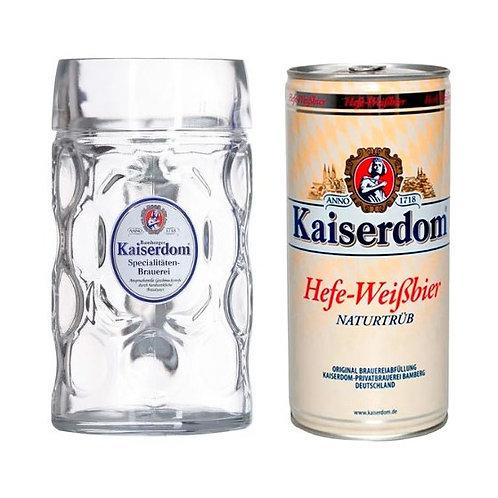 Cerveja Lata 1Lt Have Weibbier Krug + copo - KAISERDOM