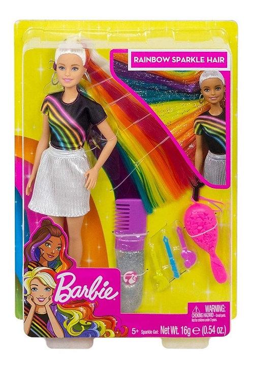 Barbie penteado arco-íris
