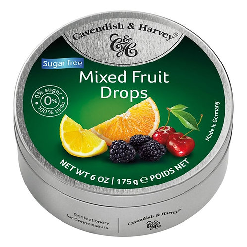 Balas de frutas sem açucar 175g - CAVENDISH & HARVEY