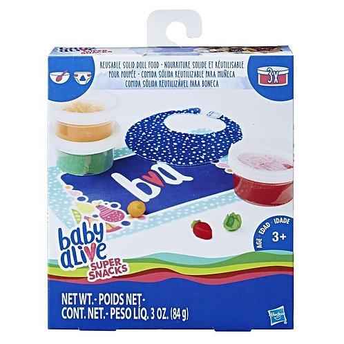 Comida sólida reutilizável para boneca - BABY ALIVE