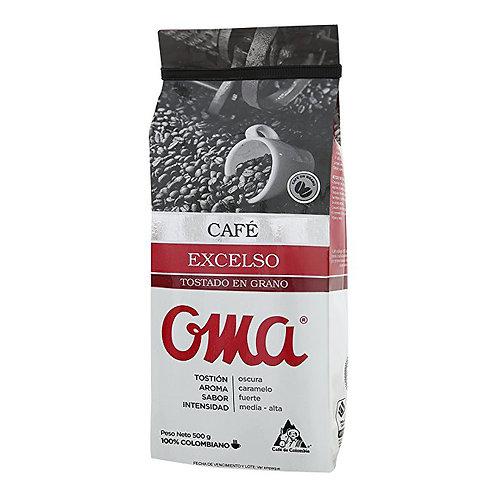 Café em grão torrado 500g - OMA