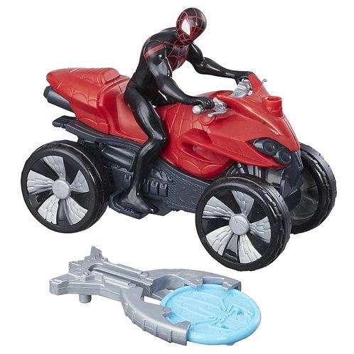 Homem Aranha em moto