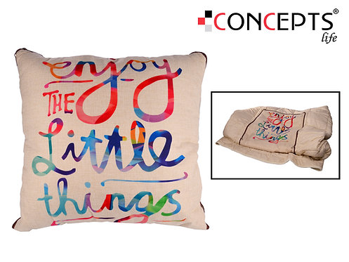 Almofada decorativa + cobertor