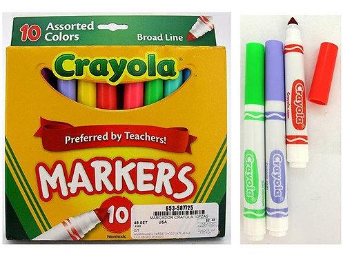 Marcadores Crayola - 10 Peças