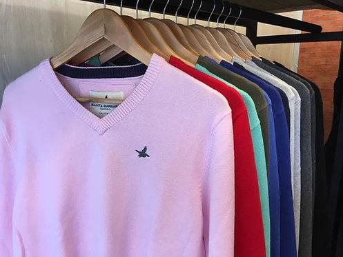 SANTA BARBARA - Sweater masculino gola V