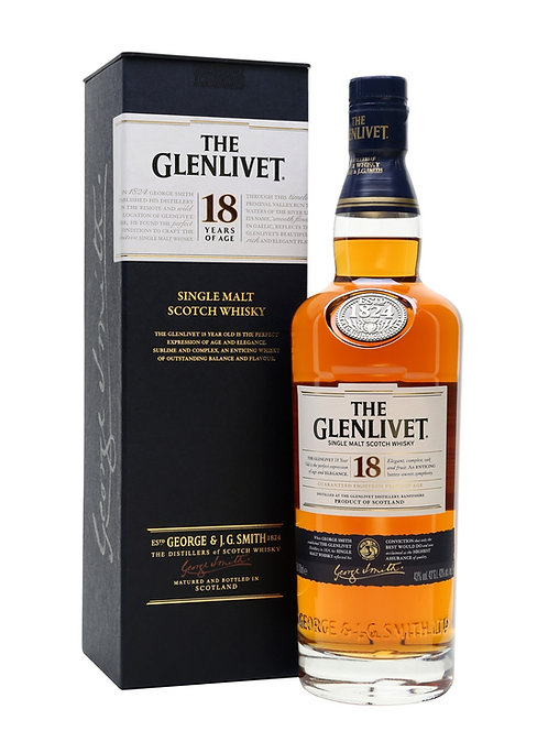 Whisky The Glenlivet 18 Anos - 750ml