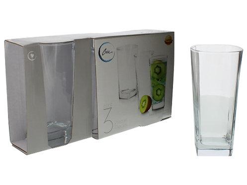 Kit de 3 copos de vidro
