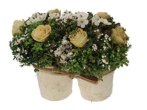 Planta artificial com vaso 12x8x10cm