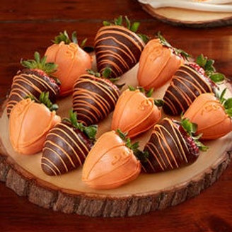 Pumpkin - Themed Strawberries (1 dozen)