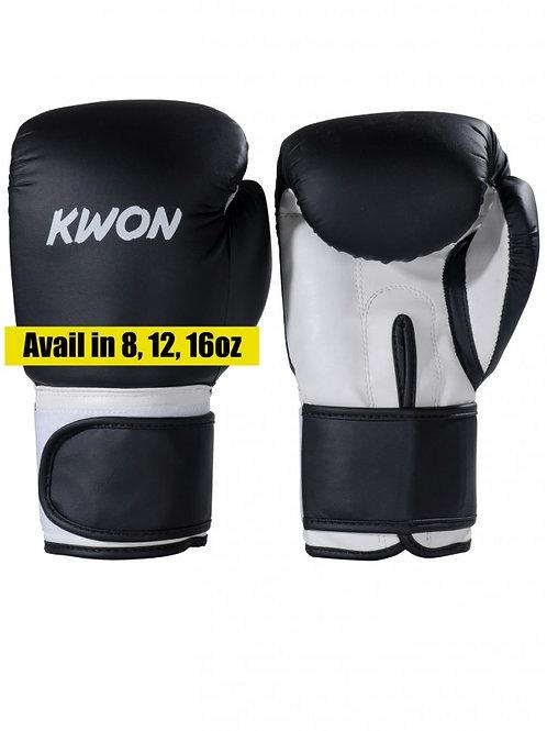Kwon - Boxing Gloves  Black/White, Black/Red, Black/Yellow, Black/Blue