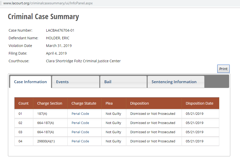 Eric Holder's Case Has Been Dismissed