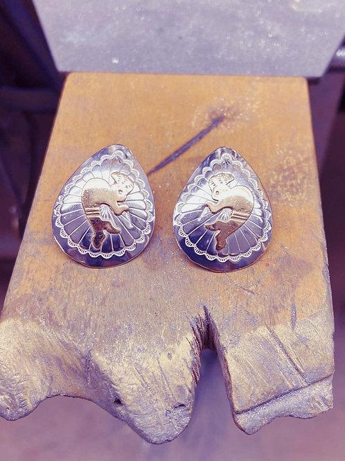 Vintage Mayan Earrings