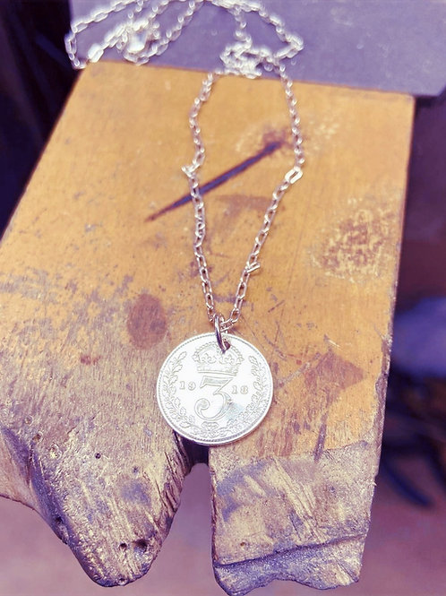 Vintage WW1 Coin Pendant
