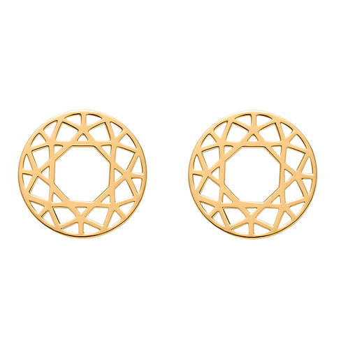 Round Cuts Earring Large