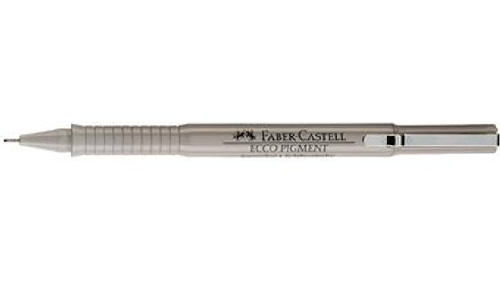 Black Ecco Pigment Fibre Tip Pen