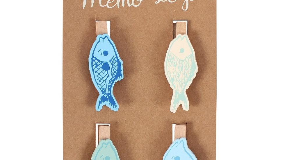 Fish Memo Pegs