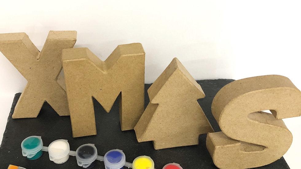 Xmas 3D Letters (Papier Mache)