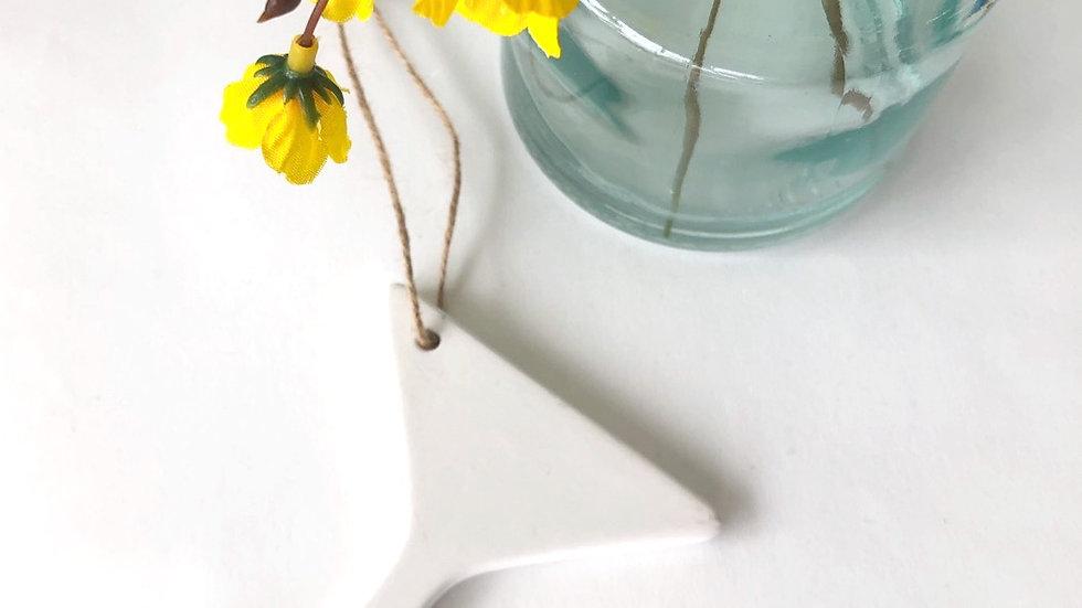 Hanging Ceramic Martini Glass