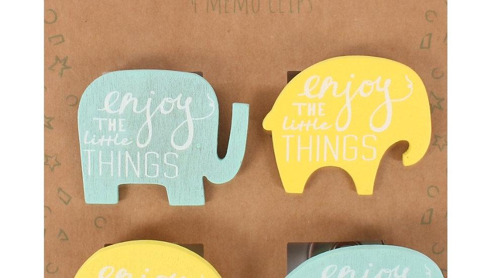 Magnetic Elephant Memo Clips