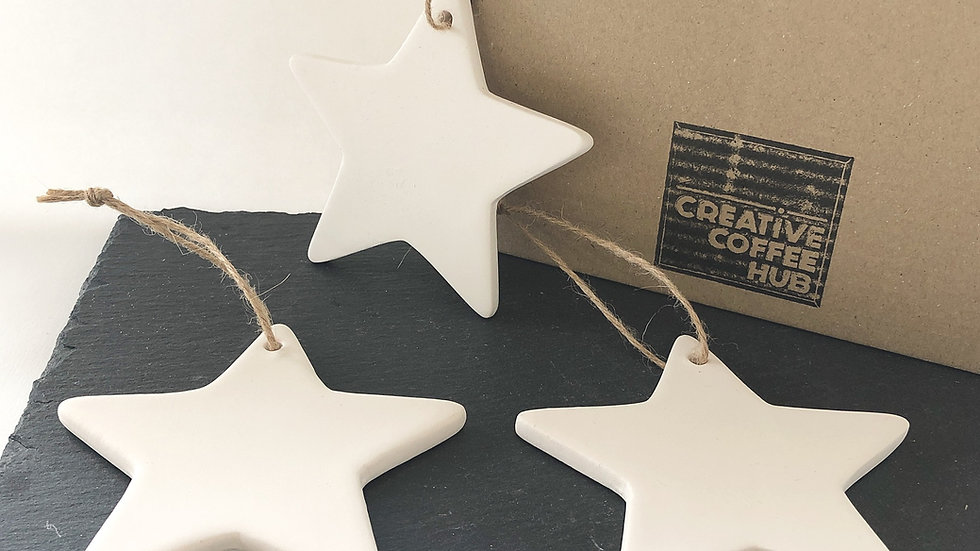 Ceramic Star Hanging Decorations