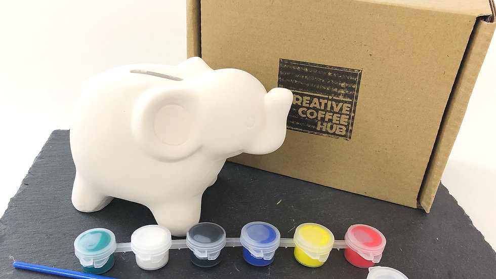 Elephant Coin Bank Ceramic Pack