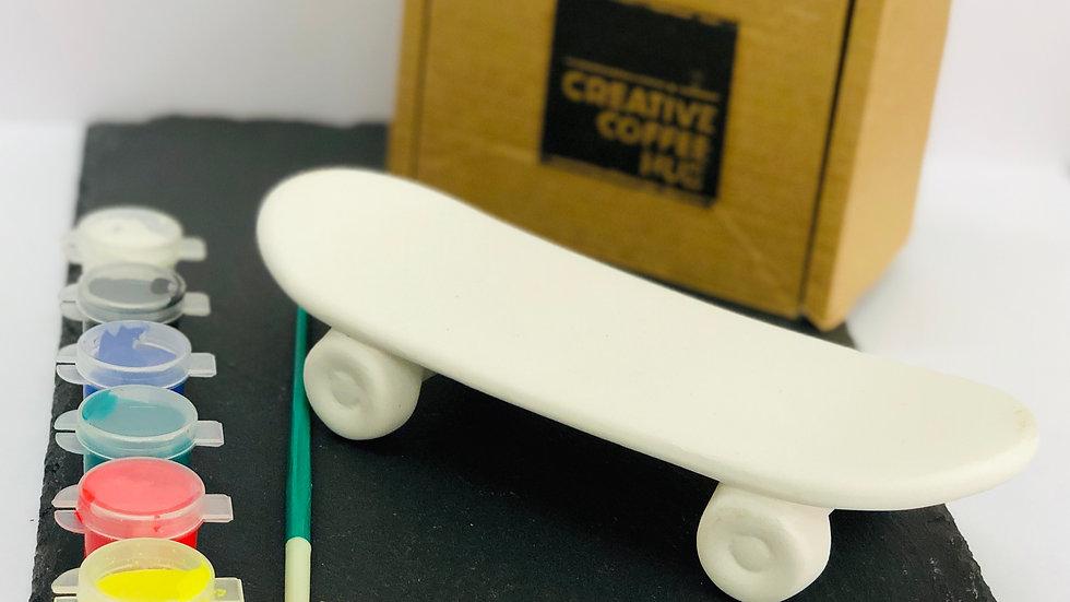 Ceramic Skateboard Ornament