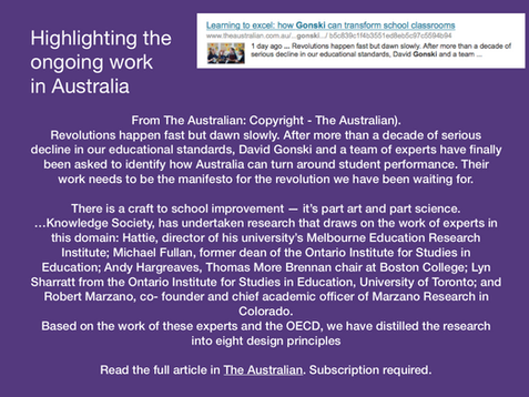 Highlighting the ongoing work in Australia