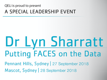 Putting FACES on the Data with Dr Lyn Sharratt