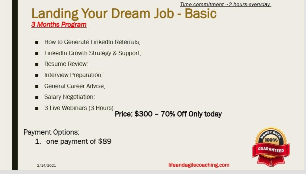 Landing Your Dream Job - Basic
