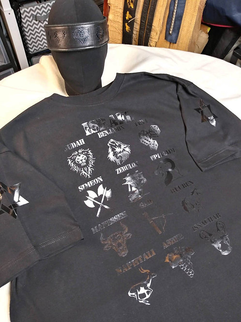 Trooper/Young Man 12 Tribes Shirt and Leather Headband