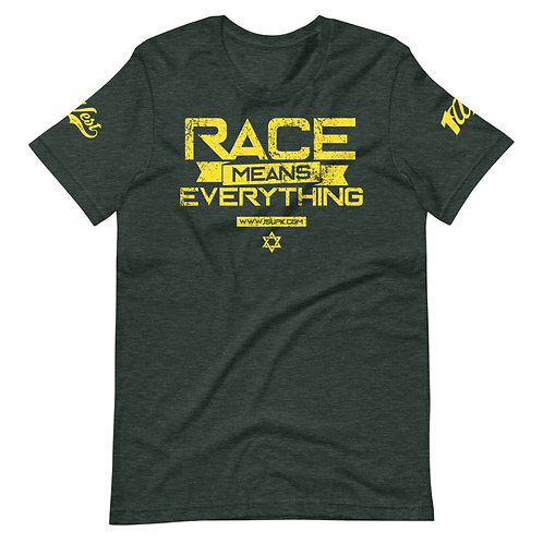 RACE SHIRT HEATHER FOREST/YELLOW
