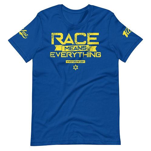 RACE SHIRT ROYAL/YELLOW