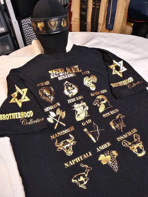 12 Tribes 24k Shirt & Leather Headband Bundle