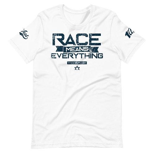 RACE SHIRT WHITE/NAVY copy