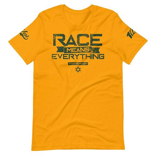 RACE SHIRT GOLD/DRK GREEN