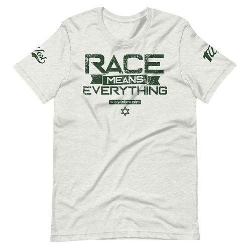RACE SHIRT ASH/DRK GREEN