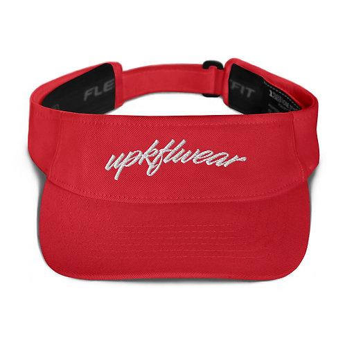 UPKFLWEAR VISOR: RED AND WHITE