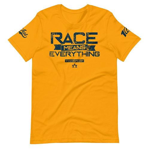 RACE SHIRT GOLD/NAVY