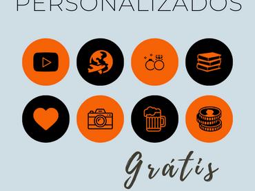 """Highlights Para os Destaques do Instagram - Tema """"Black & Orange"""" Grátis para Download"""