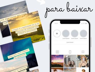 15 Templates Grátis Para Download Para Feed Do Instagram - Tema: Frases Motivacionais