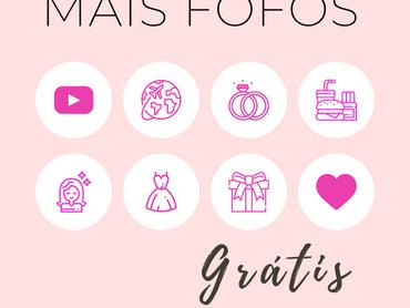"""Highlights Para Os Destaques Do Instagram - Tema """"Blogueirinha - Pink"""""""