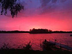 Sinissippi sunset after the rain