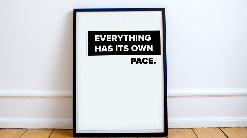 Poster - Everything has its own pace.
