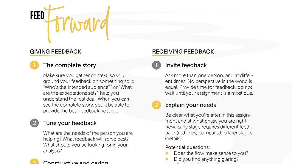 Worksheet - FeedForward