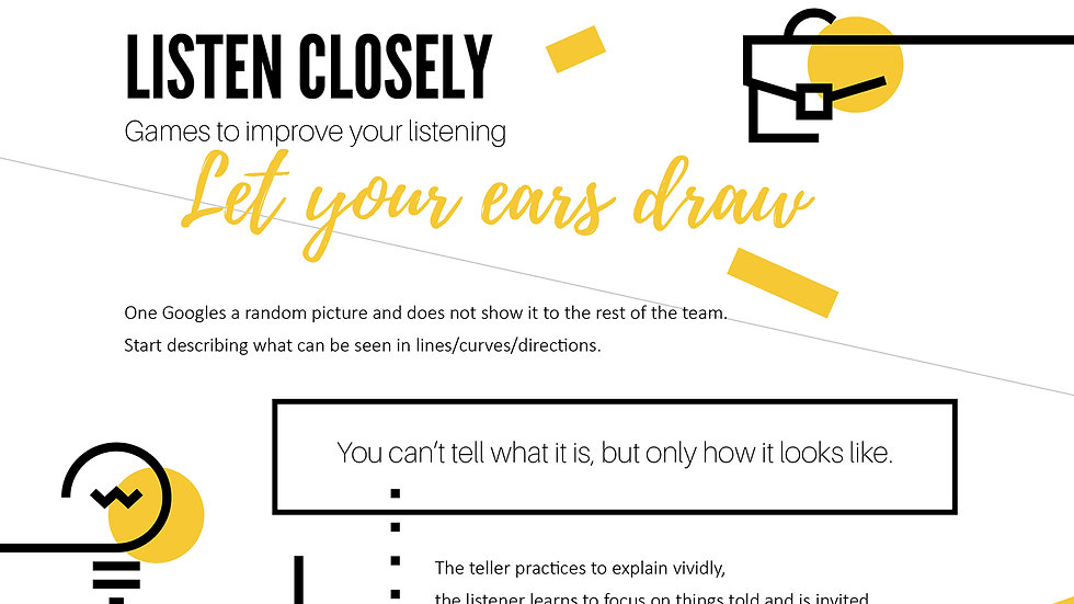 Worksheet - Let Your Ears Draw