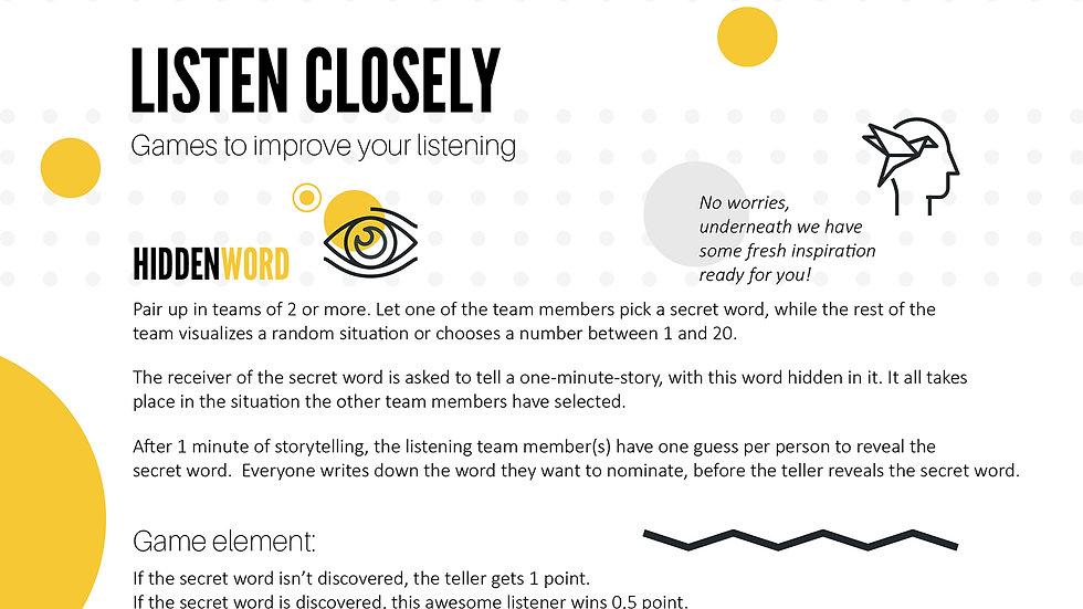 Worksheet - Hidden Word