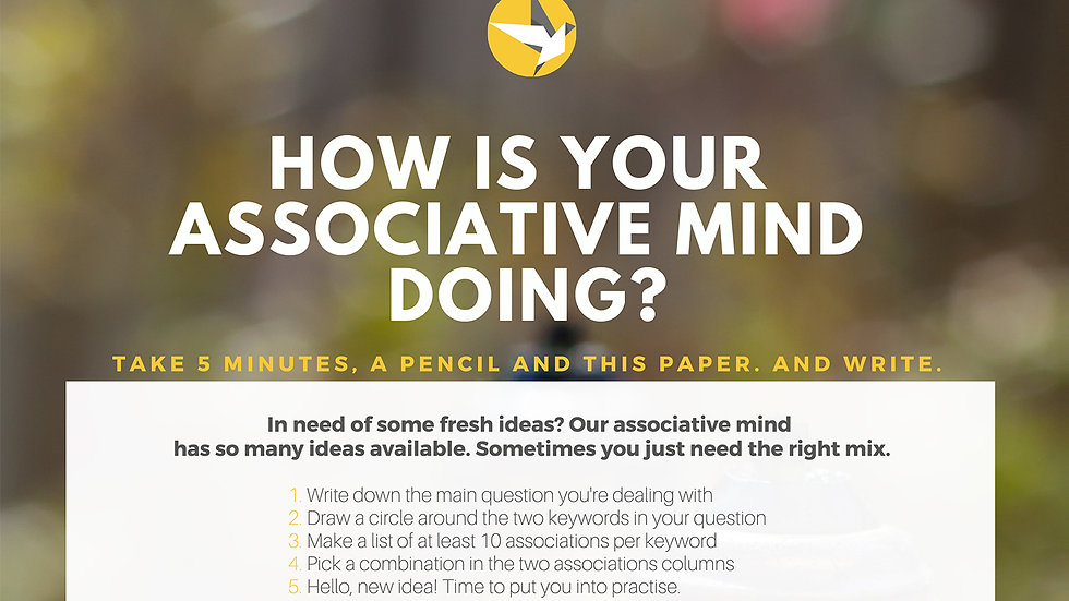 Worksheet - How is your associative mind doing?