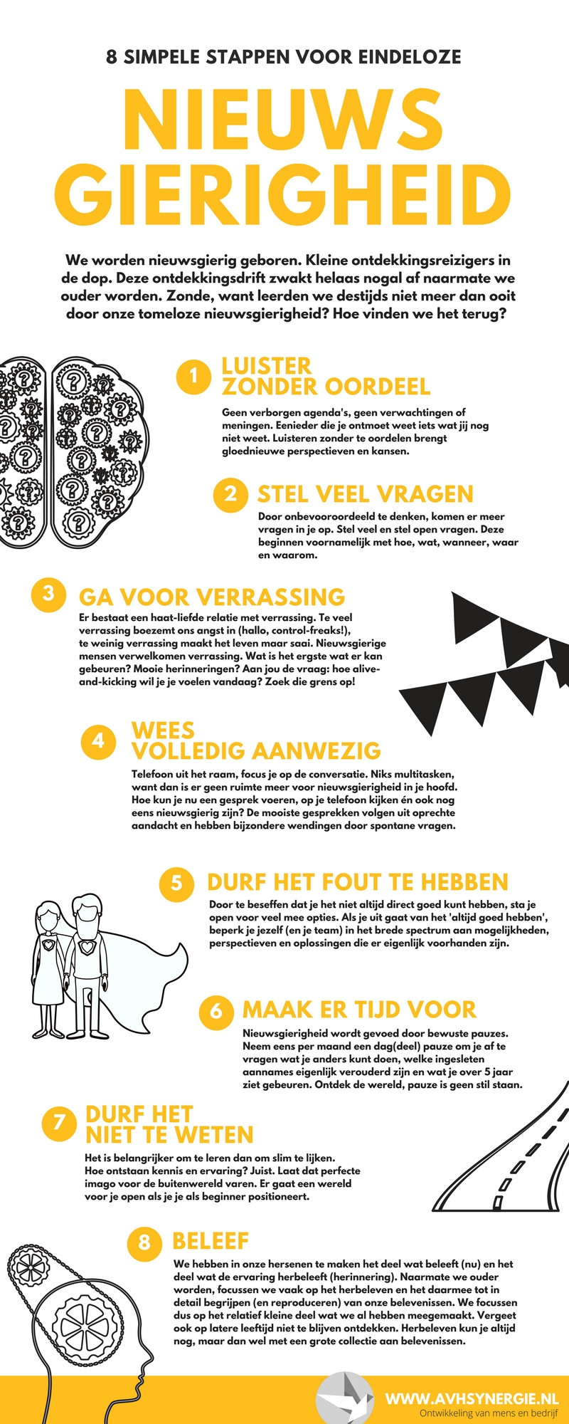 8 simpele stappen voor eindeloze nieuwsgierigheid