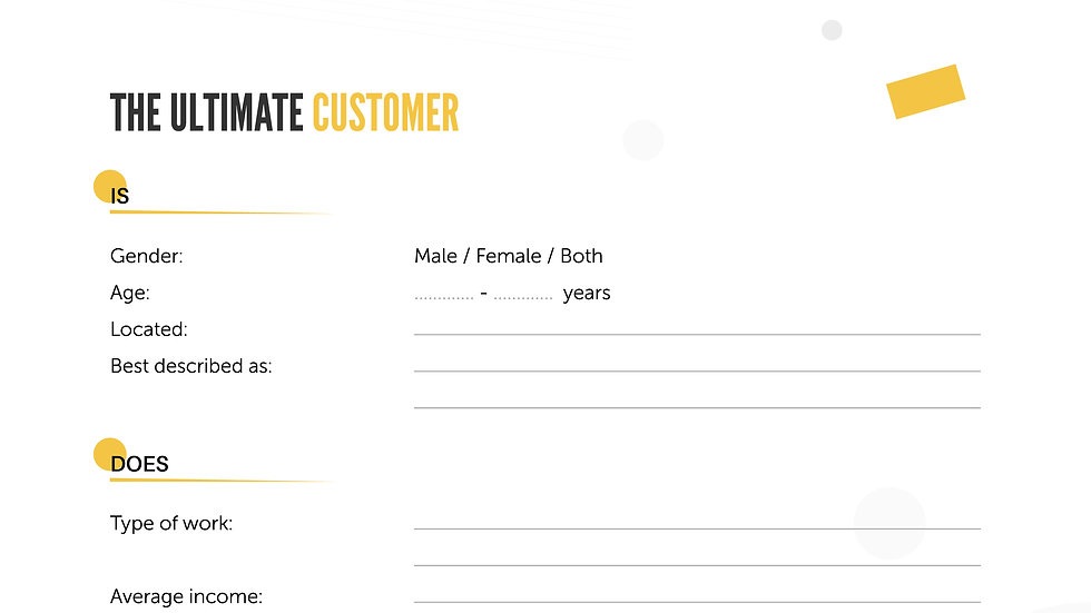 Worksheet - The Ultimate Customer
