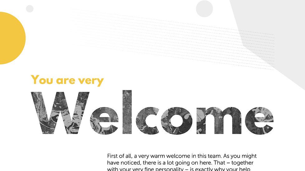 Worksheet - Welcome!